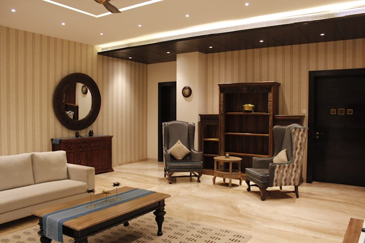 Project ~ Pune : eclectic Living room by RA LIFESTYLES