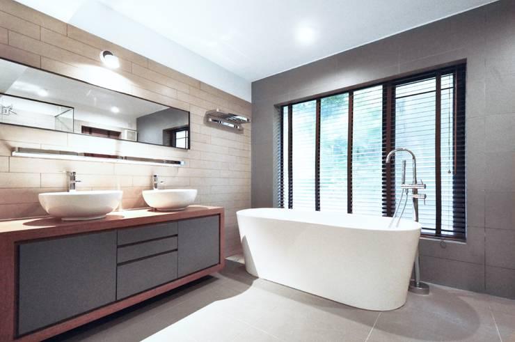 浴室 by Nomad Office Architects 覓 見 建 築 設 計 工 作 室