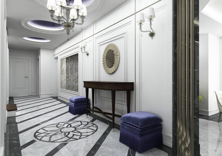 經典風格的走廊,走廊和樓梯 根據 Niyazi Özçakar İç Mimarlık 古典風