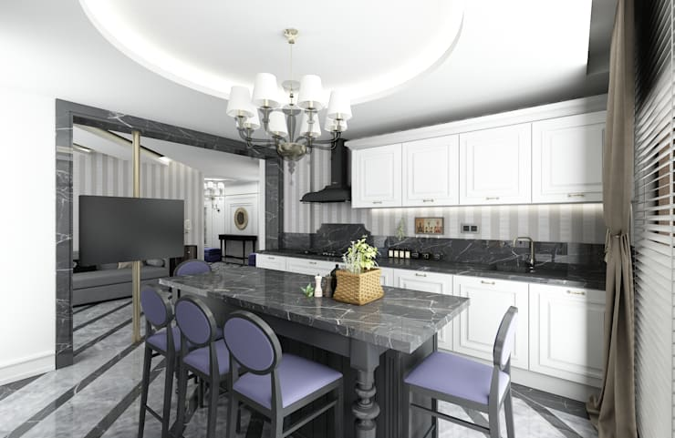 Niyazi Özçakar İç Mimarlık – H.S EVİ: klasik tarz tarz Mutfak