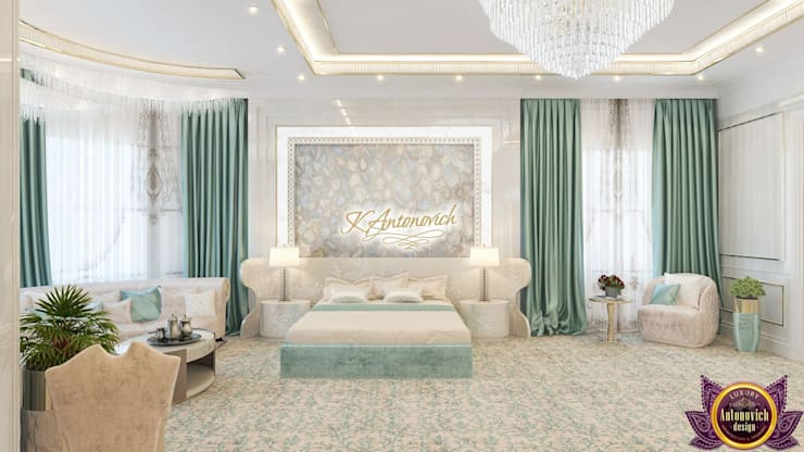​Contemporary home design by Katrina Antonovich:  Bedroom by Luxury Antonovich Design, Modern