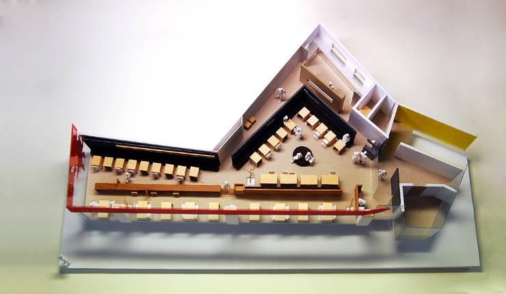 모형: (주)건축사사무소 예인그룹의  계단,모던 유리