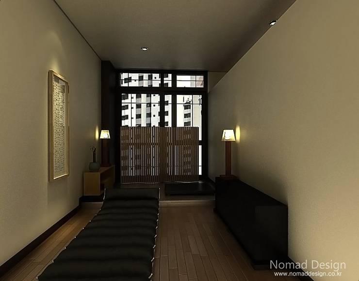 부산 DK 드림코리아 오피스/사무실 인테리어 – 노마드디자인  : 노마드디자인 / Nomad design의  계단
