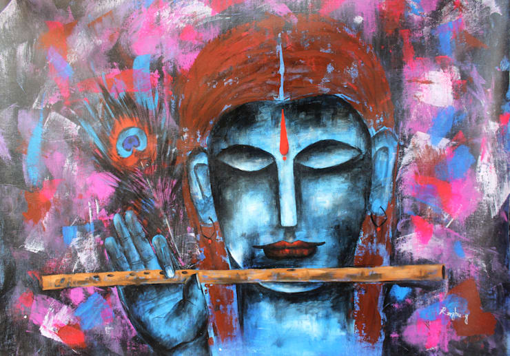 Lord Krishna V 1: asian  by Indian Art Ideas,Asian