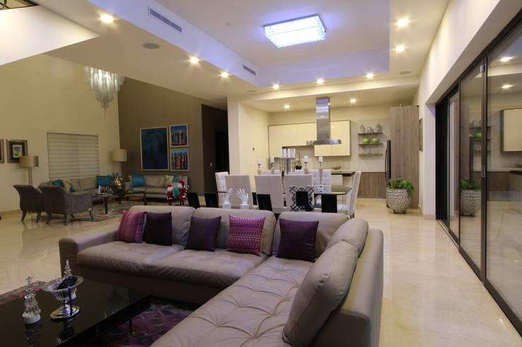 INTERIORES: Salas de estilo  por Acrópolis Arquitectura
