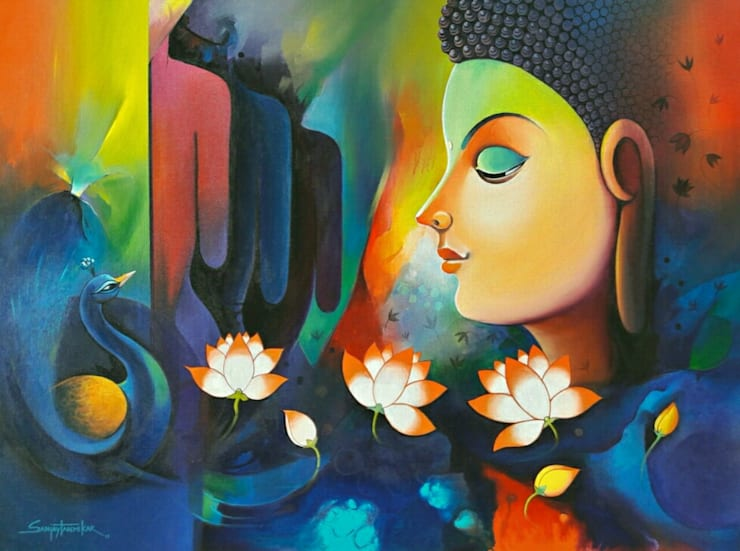 Buddha 11:  Artwork by Indian Art Ideas
