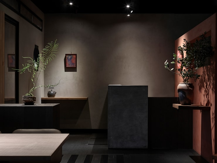 結帳區:  餐廳 by 樸十設計有限公司 SIMPURE Design