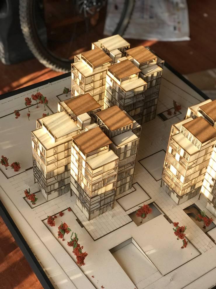 Maqueta Conjunto Habitacional:  de estilo  por MaquetARQ