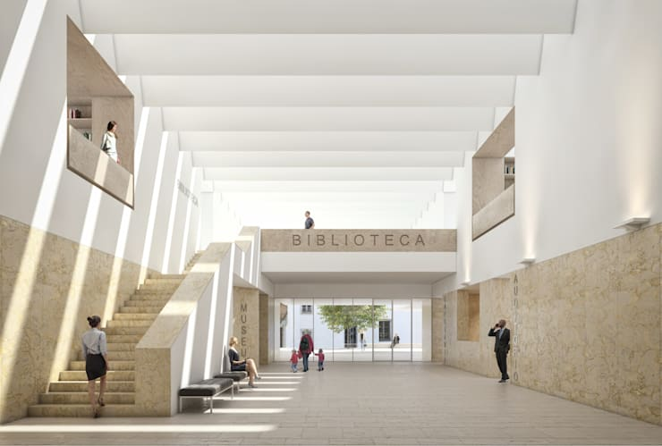 Biblioteca Municipal de Torres Vedras (Concurso) - RISCO:   por Onstudio Lda,Moderno