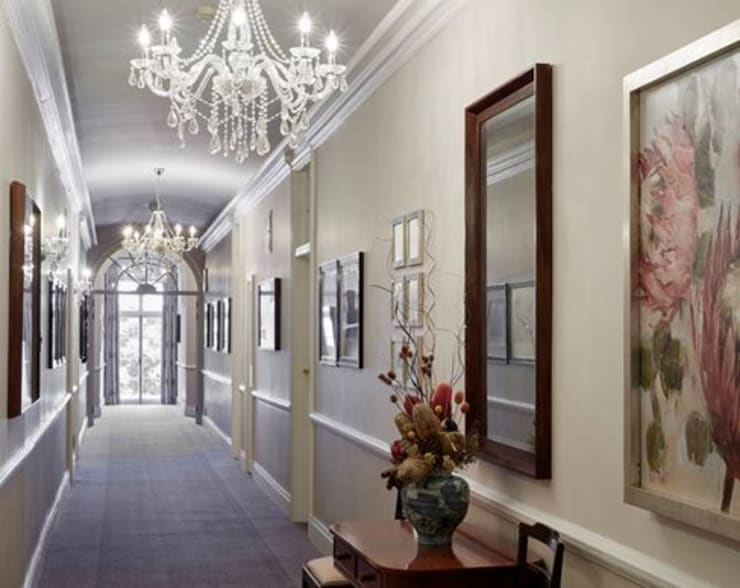 Corridor original art and mirrors:  Artwork by Custom Art Framing (Pty) ltd