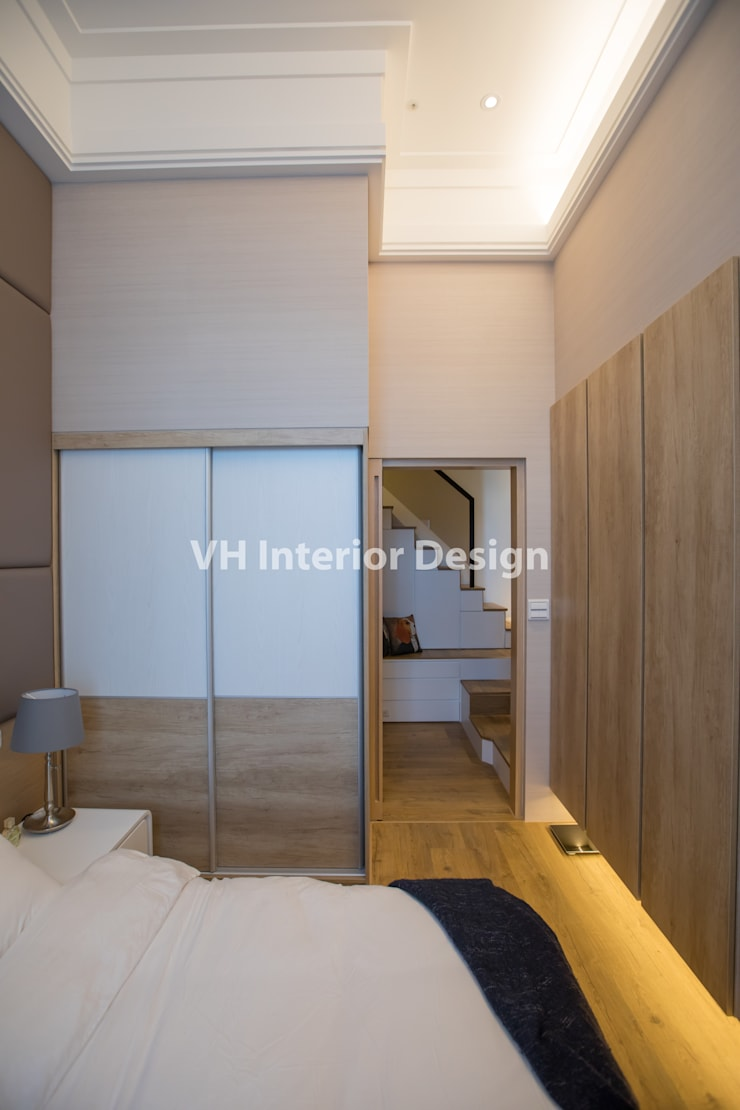 士林黃公館:  臥室 by VH INTERIOR DESIGN