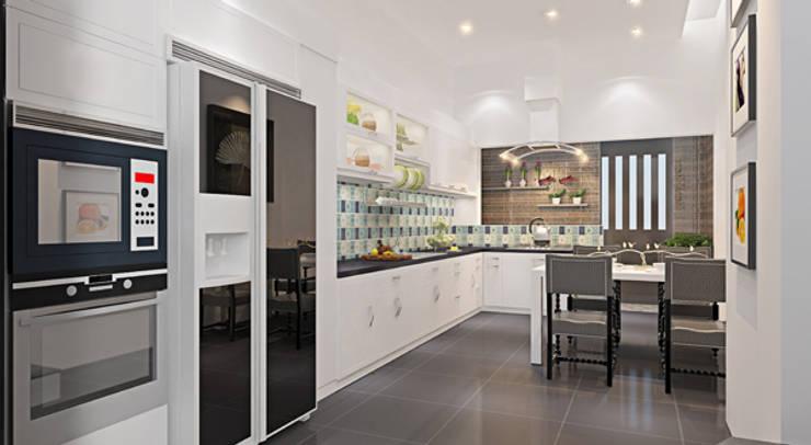 Thiết kế nội thất phòng bếp:  Tủ bếp by Công ty TNHH Xây Dựng TM – DV Song Phát