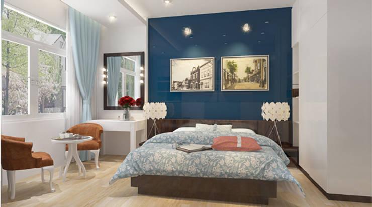 Phòng ngủ master:  Phòng ngủ by Công ty TNHH Xây Dựng TM – DV Song Phát