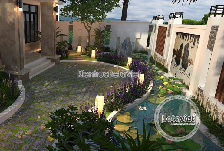 Phối cảnh sân vườn Mẫu biệt thự hiện đại 2 tầng KT16140.:   by Công Ty CP Kiến Trúc và Xây Dựng Betaviet