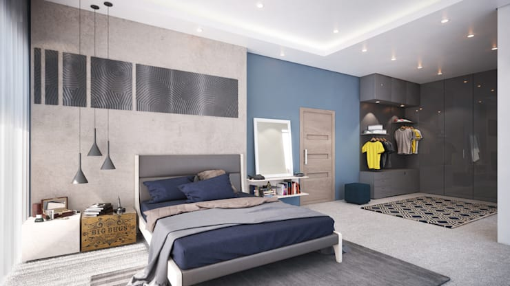Boy's Bedroom 17 Years:  Bedroom by Dessiner Interior Architectural