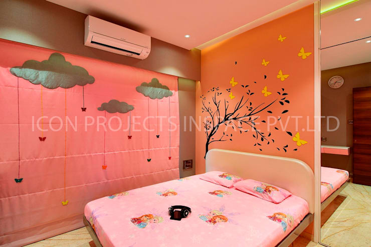 2Bhk Residence -1:  Nursery/kid's room by icon projects inspace pvt ltd