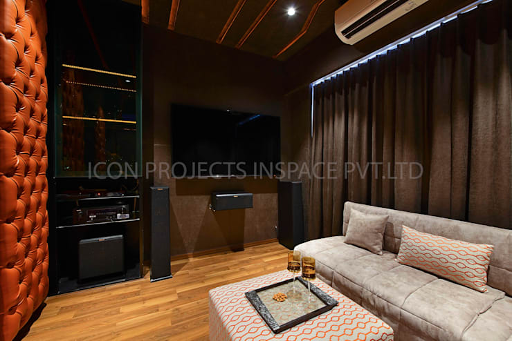 2BHK Residence:  Media room by icon projects inspace pvt ltd