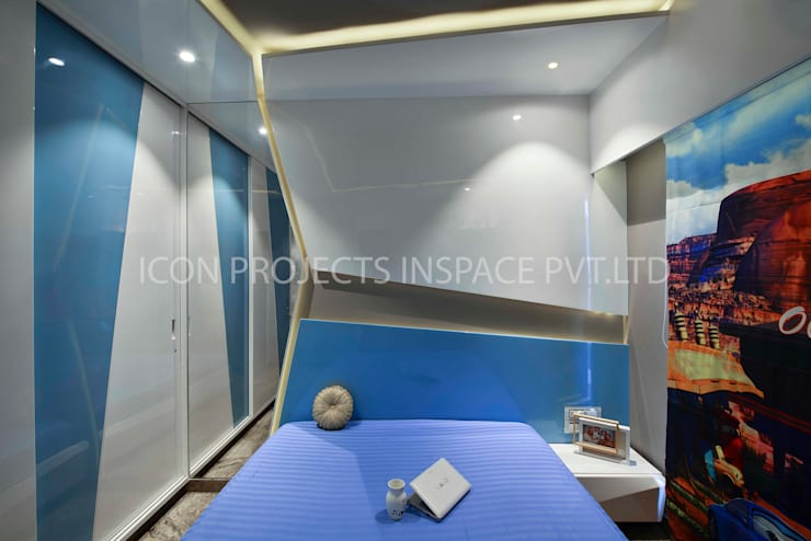 2BHK Residence:  Nursery/kid's room by icon projects inspace pvt ltd