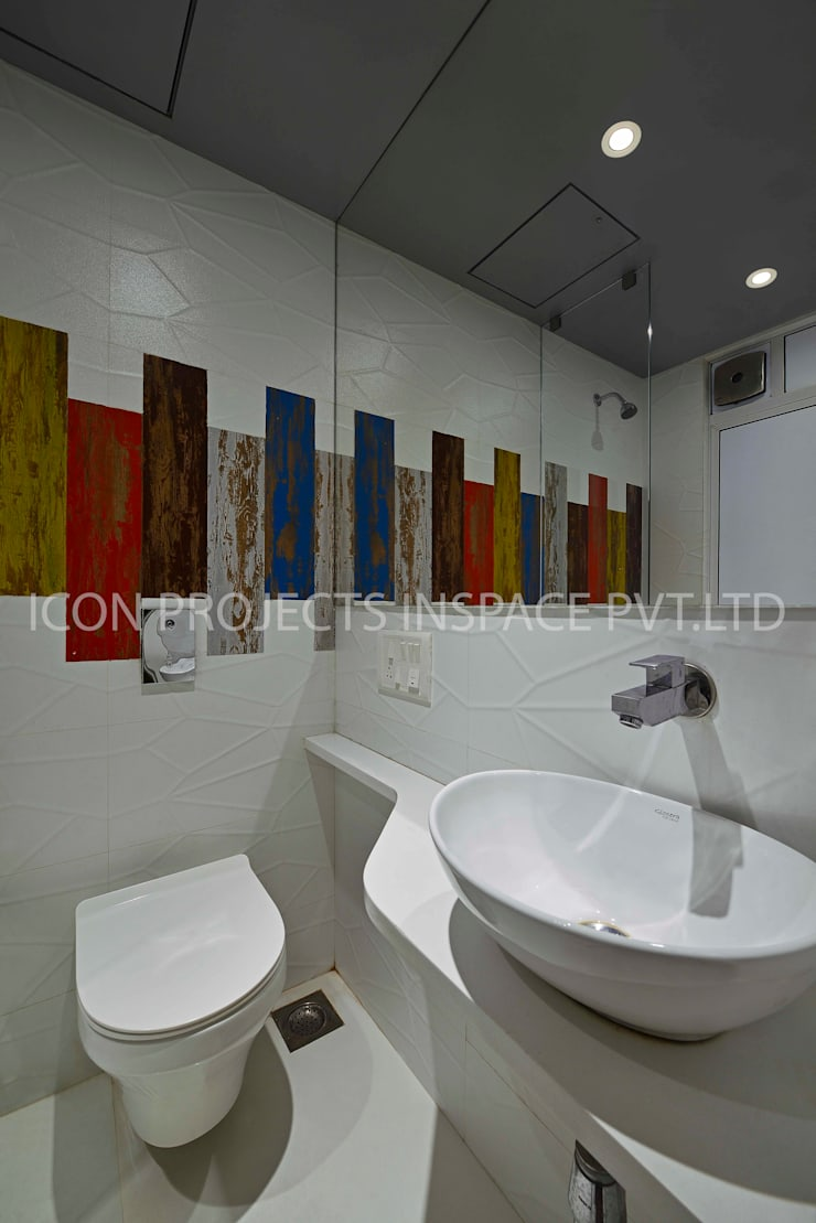 2BHK Residence:  Bathroom by icon projects inspace pvt ltd