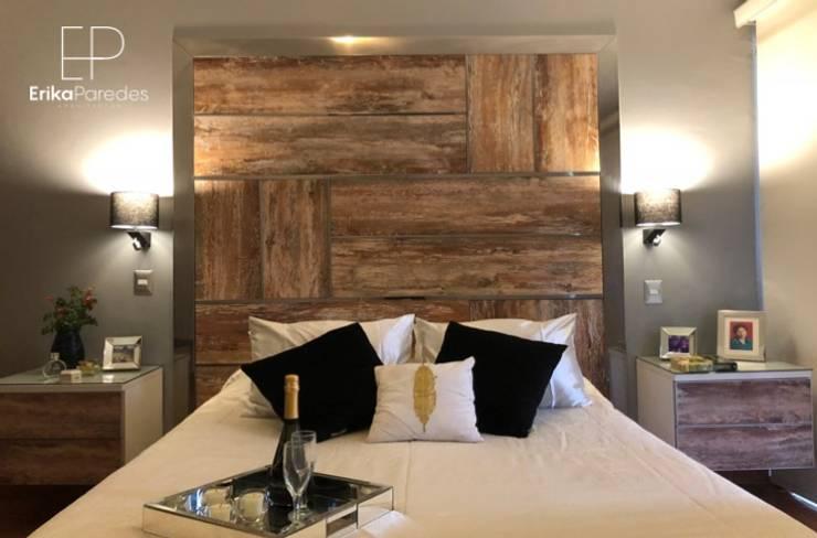 Detalle de Cabcera Iluminada: Dormitorios de estilo  por EPG  Studio
