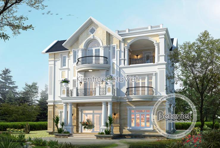 Phối cảnh mẫu thiết kế biệt thự Vinhomes Riverside KT17044:   by Công Ty CP Kiến Trúc và Xây Dựng Betaviet