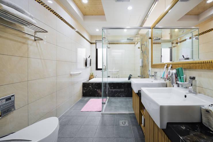 新竹寶山鄉 葉公館:  臥室 by 築室室內設計