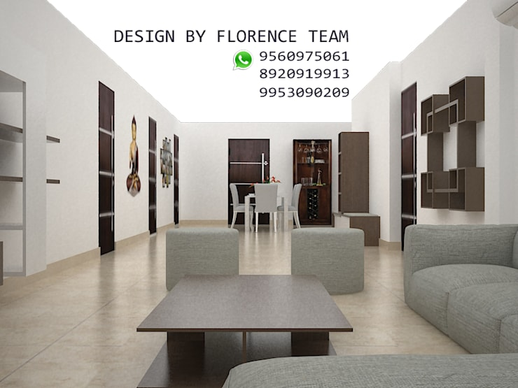 Residential project:  Living room by Florence Management Services