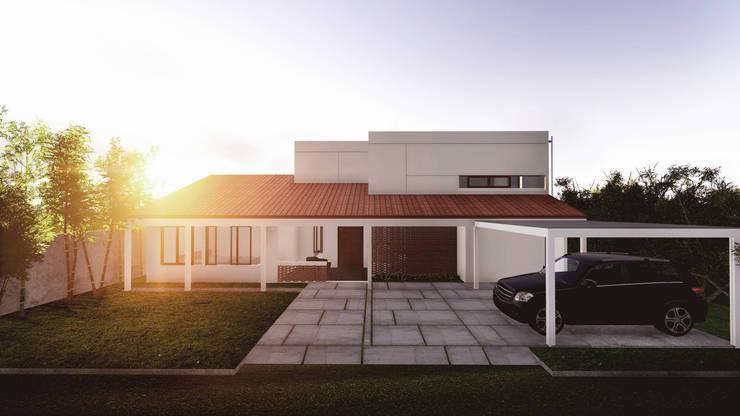 Front Facade:  Rumah by Lukemala Creative Studio