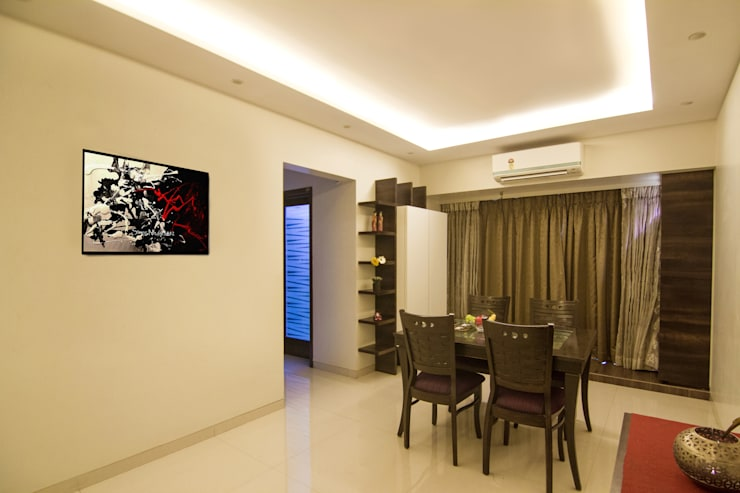 3 BHK at Borivali:  Dining room by A Design Studio