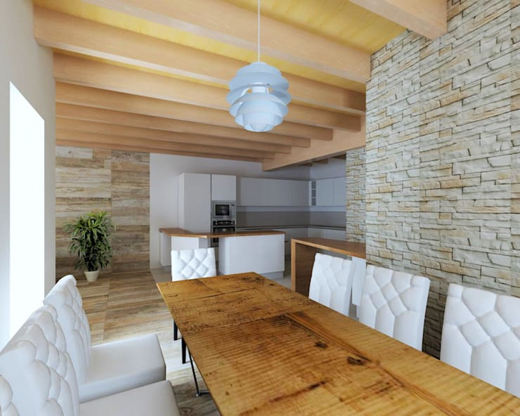 Rustico moderno alle porte di cortina von studio reinventa casa