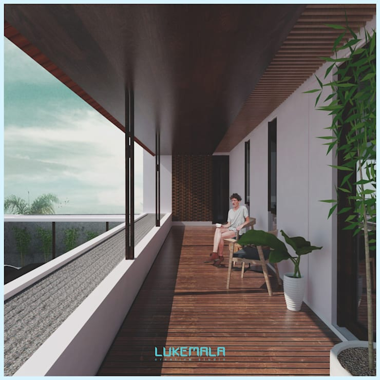Balcony // Senor Villa:  Teras by Lukemala Creative Studio