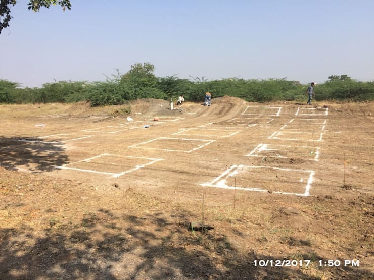Line out Marking:  Multi-Family house by Cfolios Design And Construction Solutions Pvt Ltd,Modern