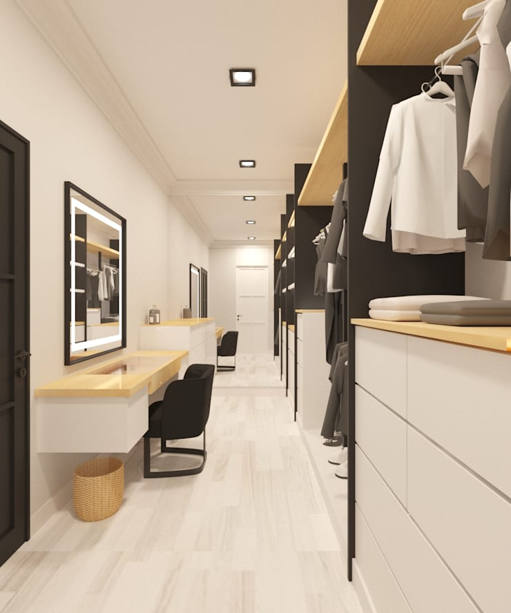 Walk in Closet:  Ruang Ganti by Noff Design