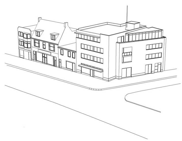 Winkel en Appartementen, Hoensbroek:  Vloeren door Verheij Architecten BNA, Modern