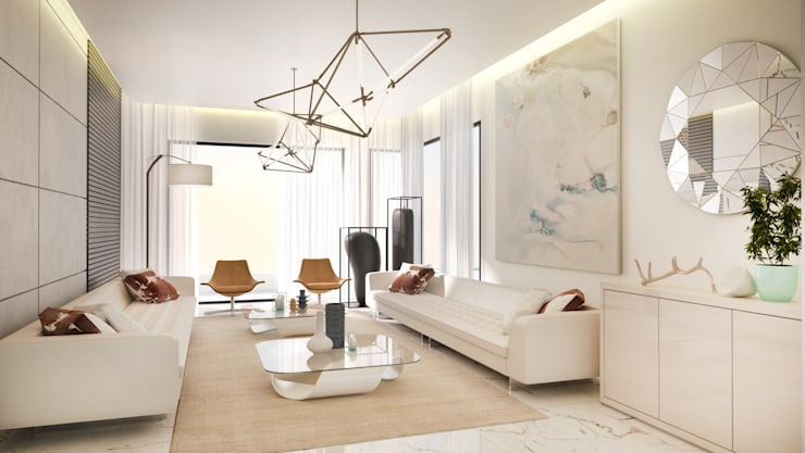 Formal Lounge:  Living room by Dessiner Interior Architectural