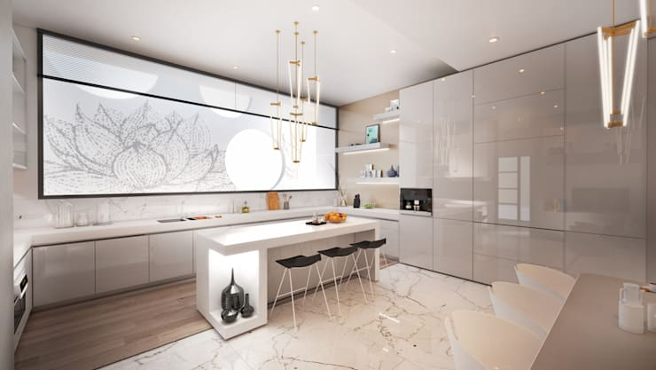 Cocinas de estilo  por Dessiner Interior Architectural