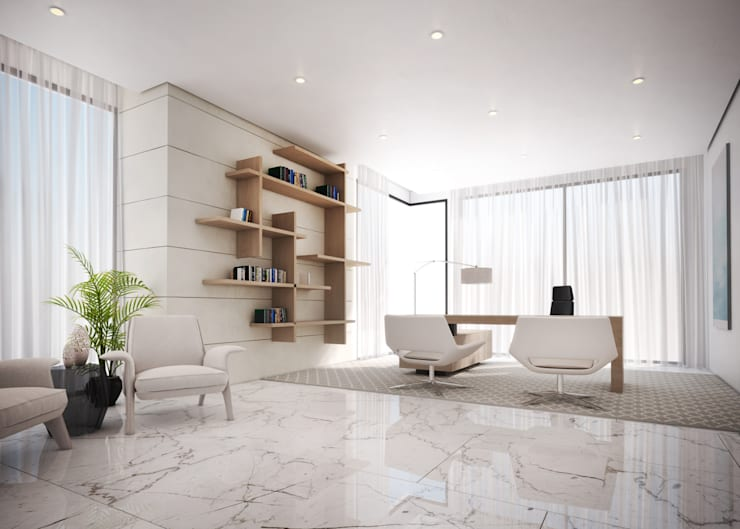 Office Modern study/office by Dessiner Interior Architectural Modern