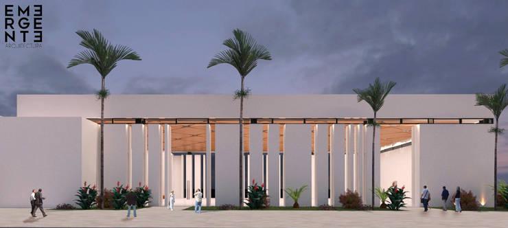 FACHADA: Casas de estilo ecléctico por EMERGENTE | Arquitectura