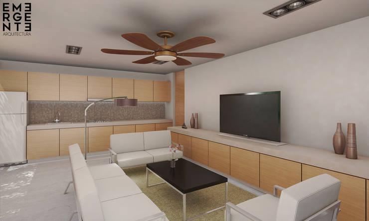 SALA: Salas de estilo minimalista por EMERGENTE | Arquitectura