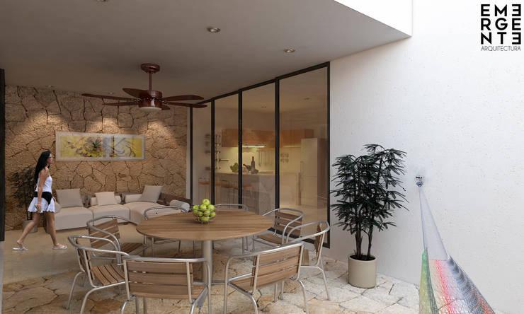 TERRAZA VISTA 2: Terrazas de estilo  por EMERGENTE   Arquitectura