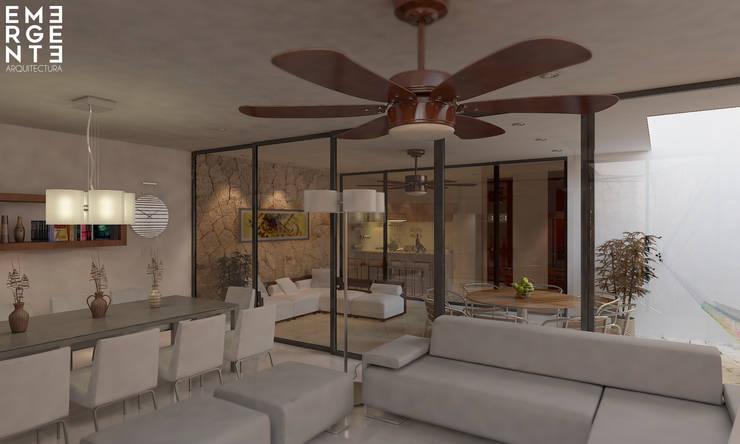 SALA VISTA 2: Salas de estilo  por EMERGENTE   Arquitectura