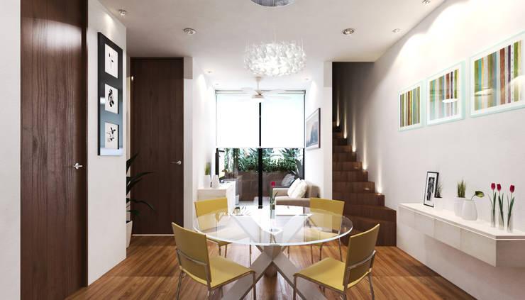 COMEDOR : Salas de estilo ecléctico por EMERGENTE | Arquitectura