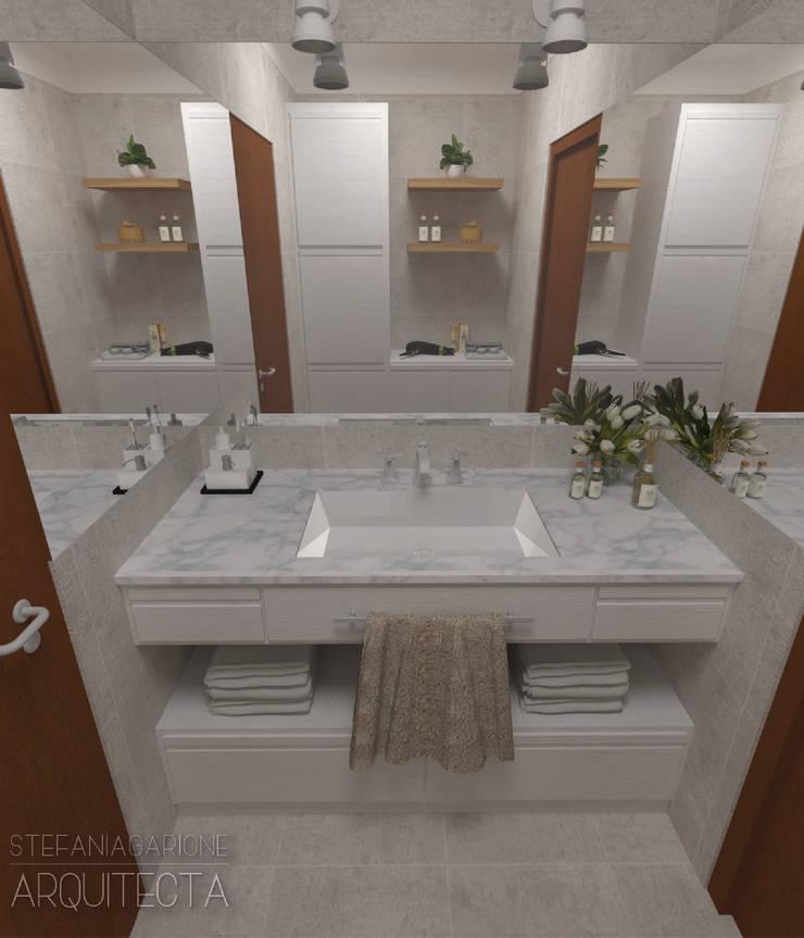 REFORMA BAÑO FAMILIAR: Baños de estilo  por Arquitecta Stefanía Garione,