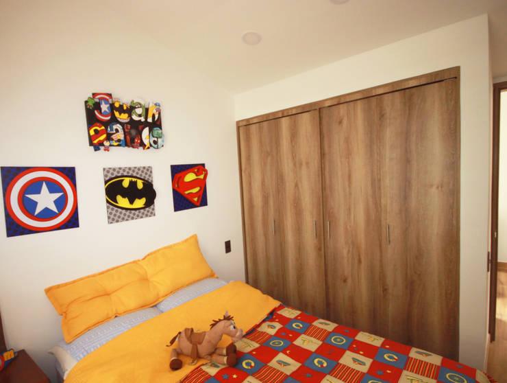Casa Gallego Urrego: Habitaciones para niños de estilo moderno por AMR estudio