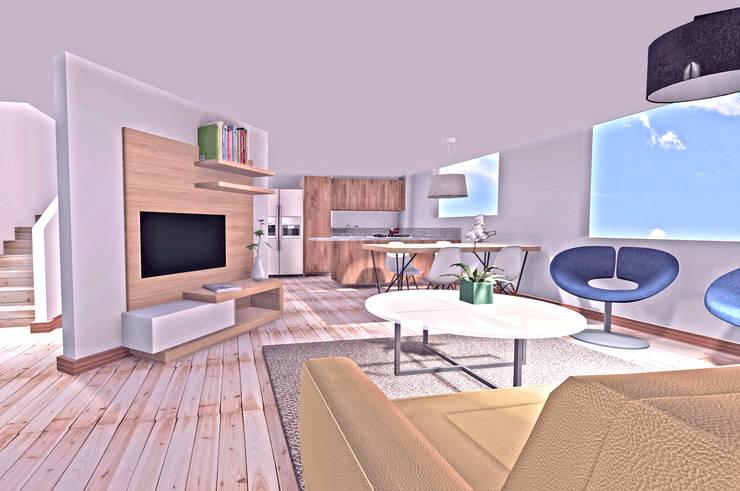Apartamento Gómez Morales:  de estilo  por AMR estudio