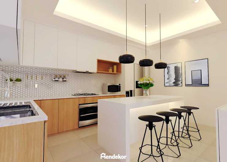 Kitchen:  Dapur by Mendekor