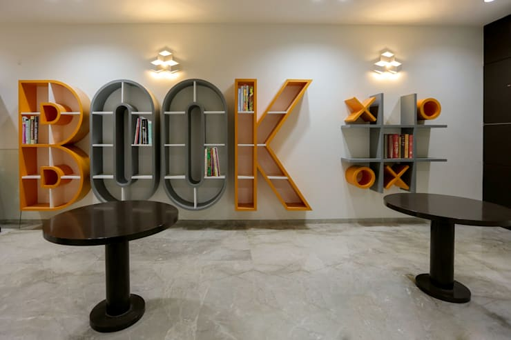 Library:  Study/office by ZEAL Arch Designs