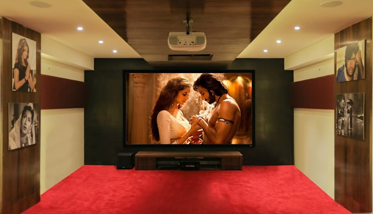 Home Theatre:  Multimedia room by ZEAL Arch Designs