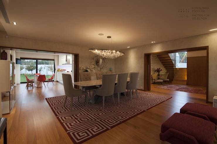 Sala de Jantar: Salas de jantar  por EMME Atelier de Interiores