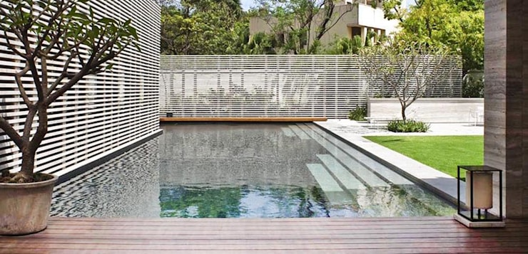 Amrita Shergill Marg: modern Pool by Sion Projects
